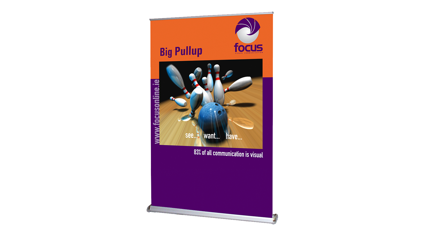 Big Impress pull-up stand | Focus Visual Communication